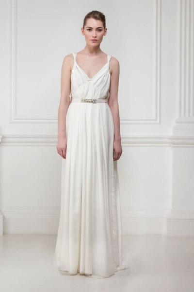 Греческое белое длинное платье