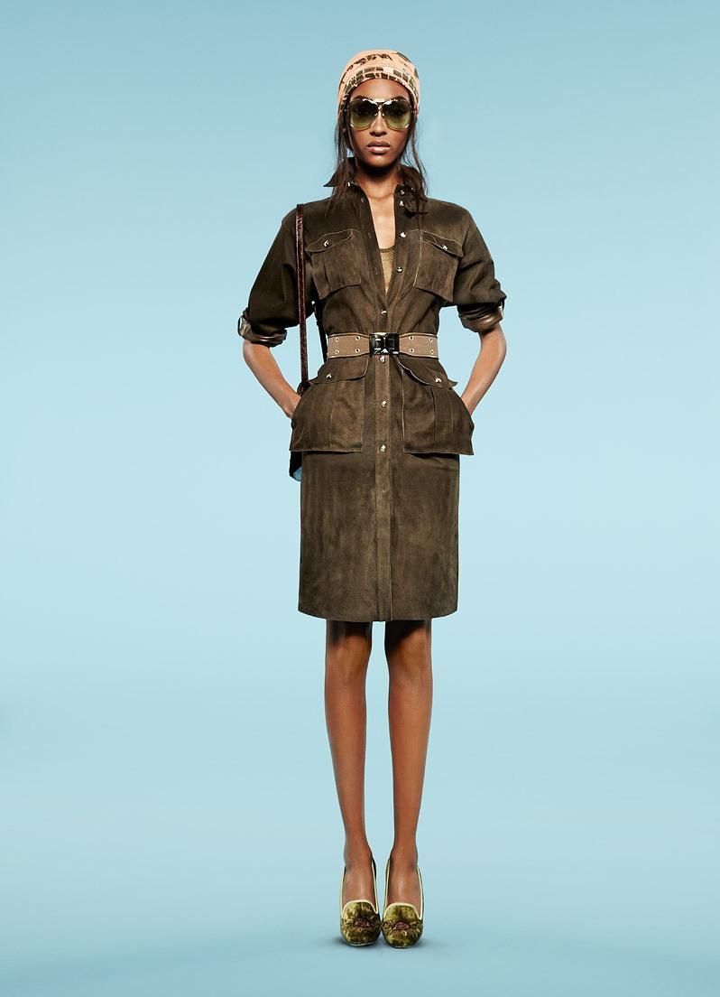 Платье сафари в стиле милитари