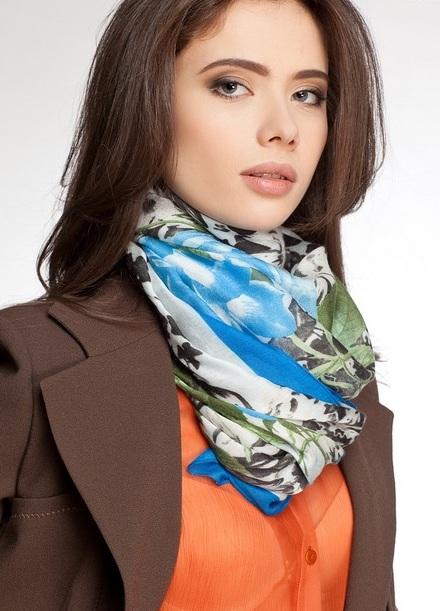 Шейные платки женские с чем носить