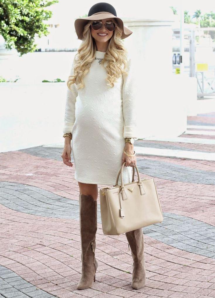 Платья для беременных зимние