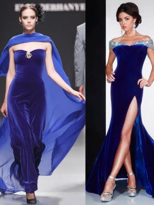 Фасоны платья из бархата и велюра