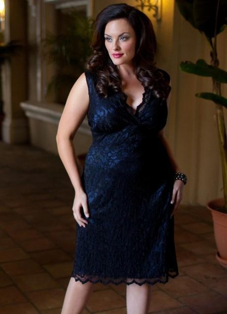 Модели платья из гипюра для полных