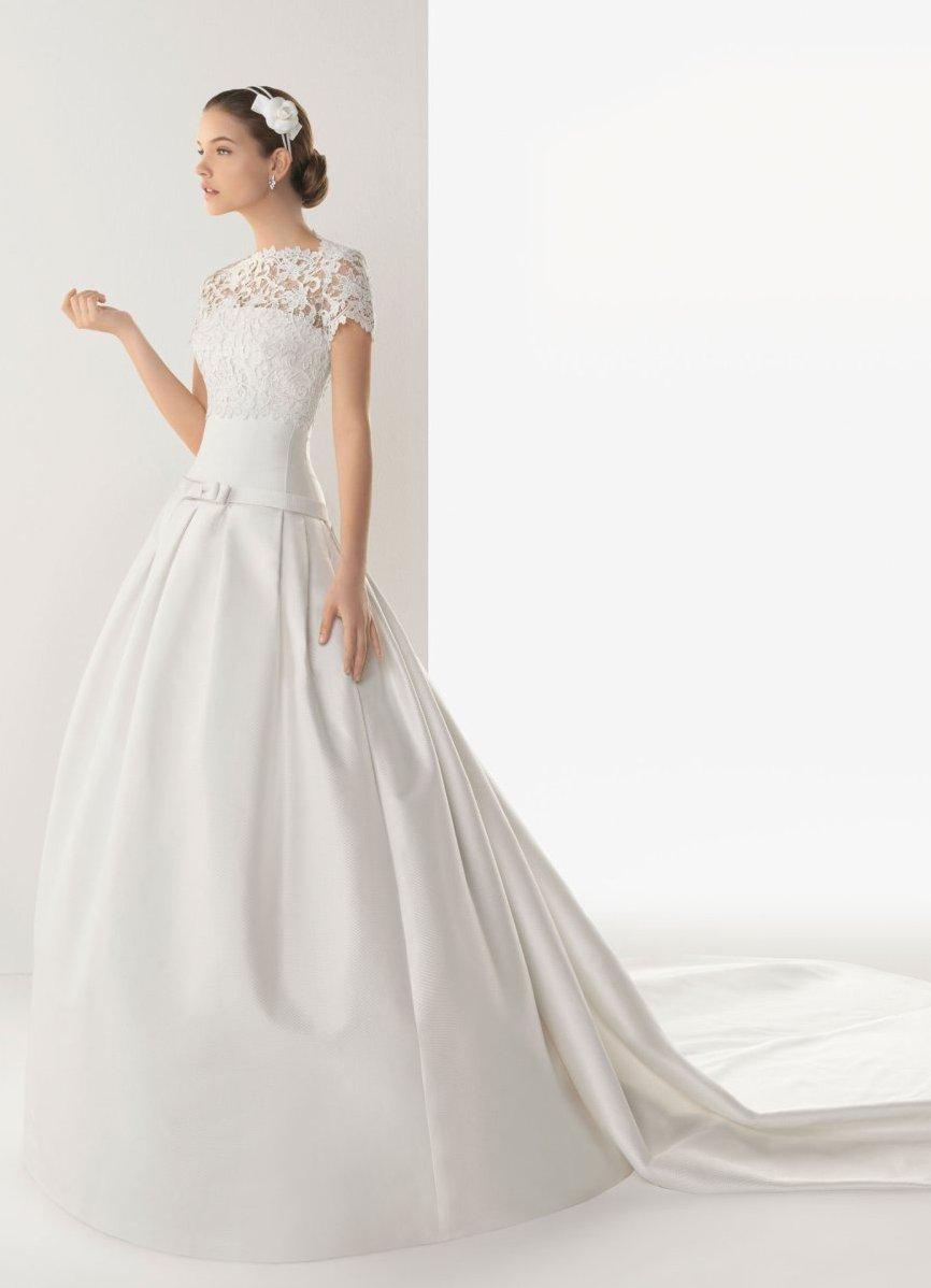 Свадебные платья из гипюра и кружева фото