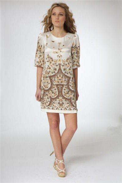 Приталенные шелковые платья