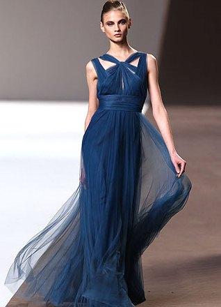 Шифоновое летящее платье