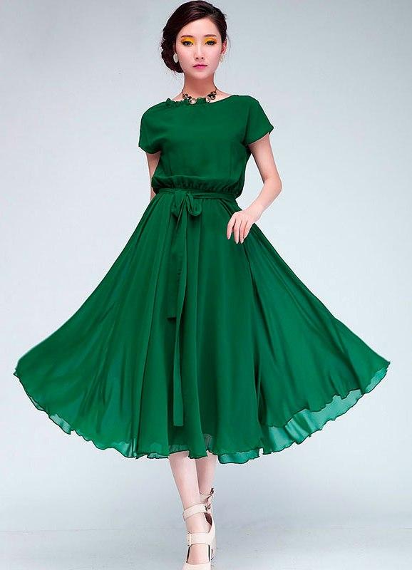 Фото платьев из шифона для женщин в возрасте