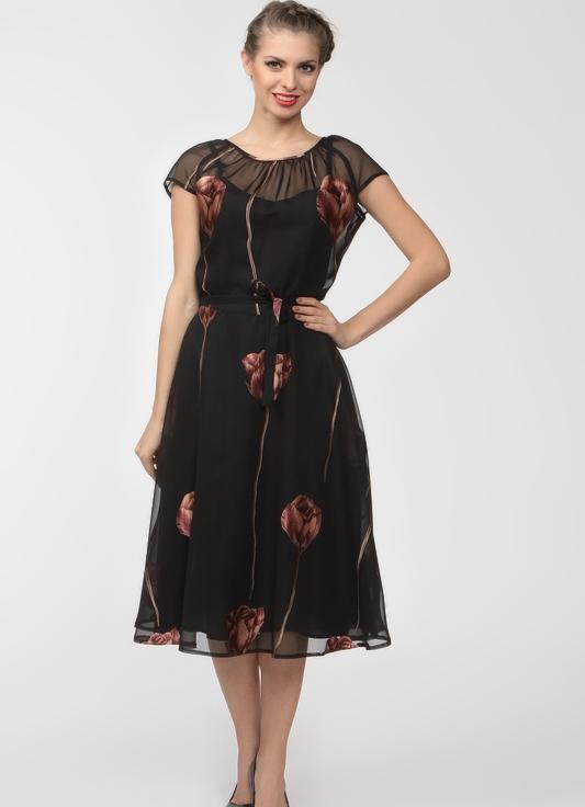 Фасоны платьев из шифона для женщин 50 лет