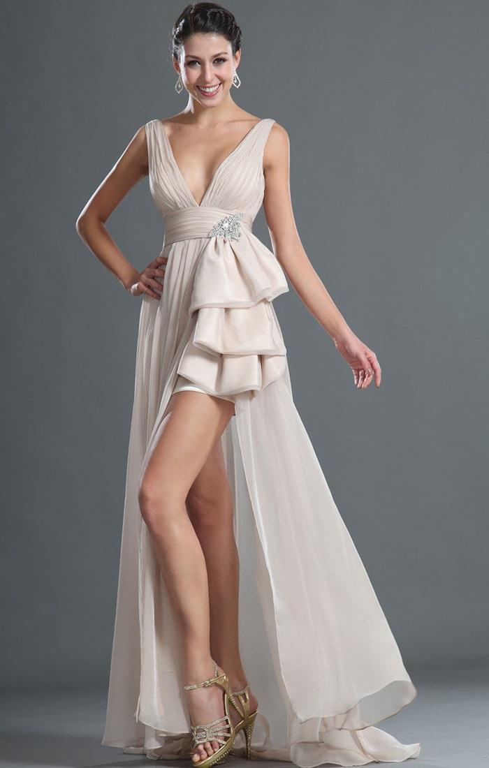 Шлейф на короткое платье