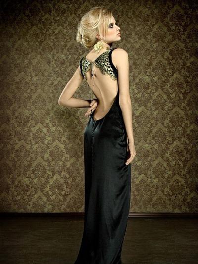 Фото платья с открытой спиной для полных