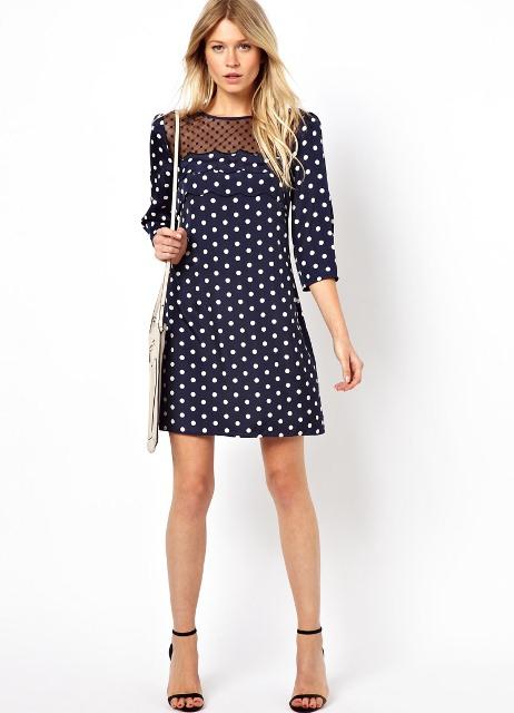 Платья в горошек на лето 2013: выбор с учетом фигуры