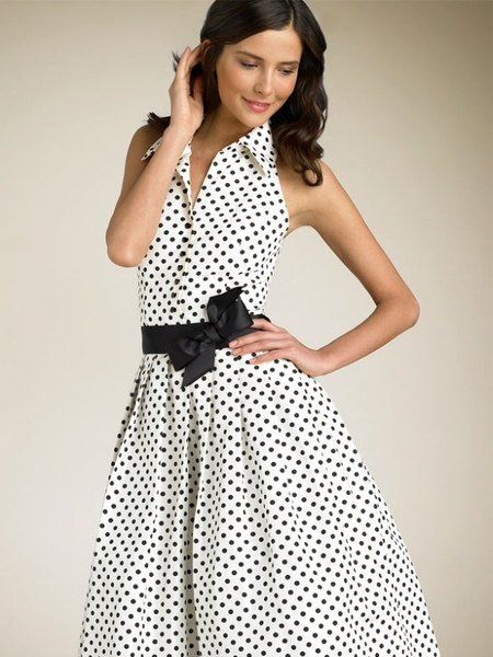 Модели платьев в горошек.фото