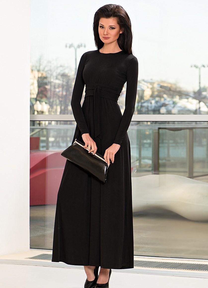 Платья с длинным рукавом строгие