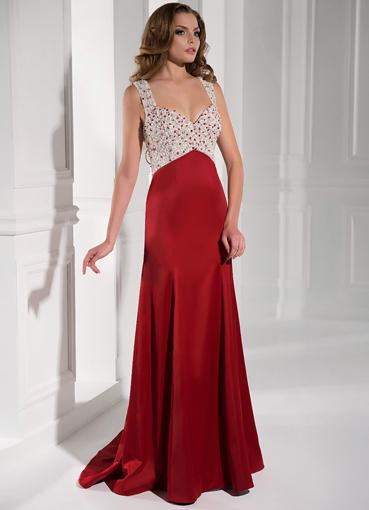 Выпускные красные платья в пол
