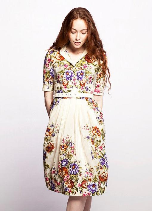 Стилизованное платье в русском стиле