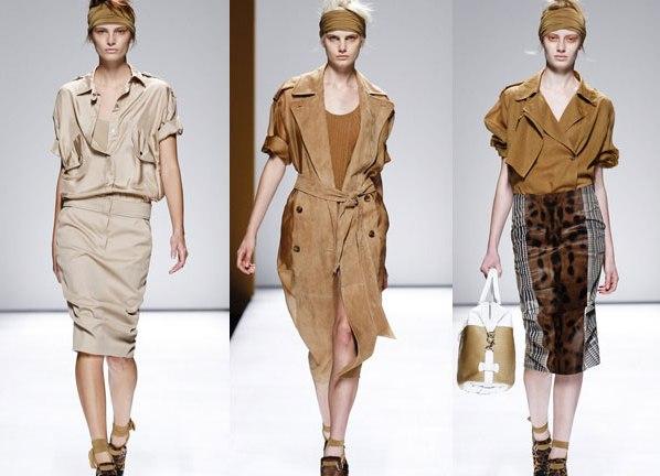 Платья в стиле сафари 2013