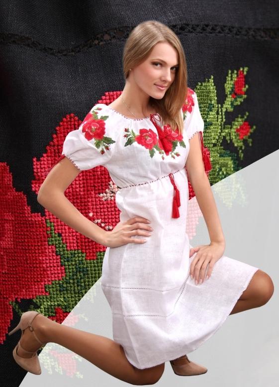 Платья в украинском стиле короткие