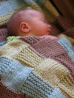 Как связать плед новорожденному своими руками