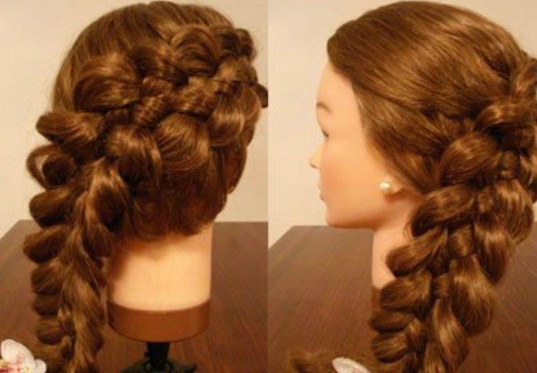 Заплести косу из 5 прядей по