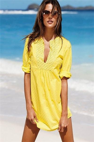 Фасоны пляжных платьев из шифона