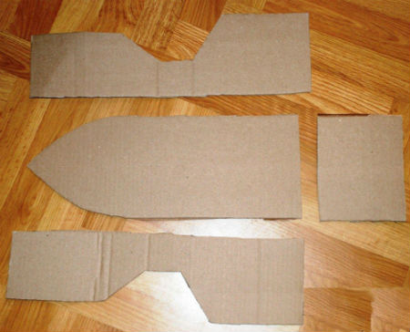 Как сделать основу для корабля из картона