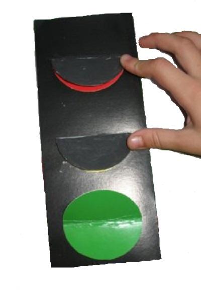Светофор из картона для детей своими руками