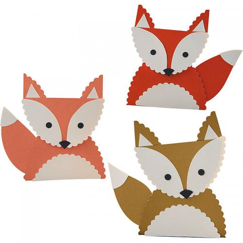 Поделка с детьми лисичка