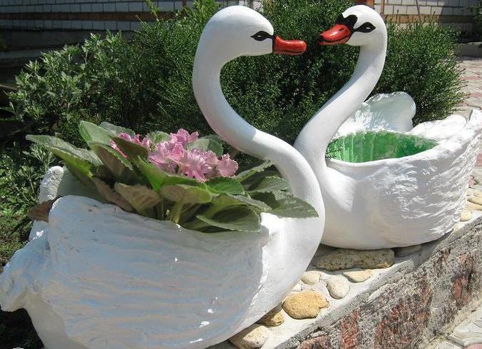 Как сделать лебедя для дачи