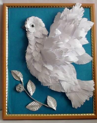 Поделка голубь мира своими руками