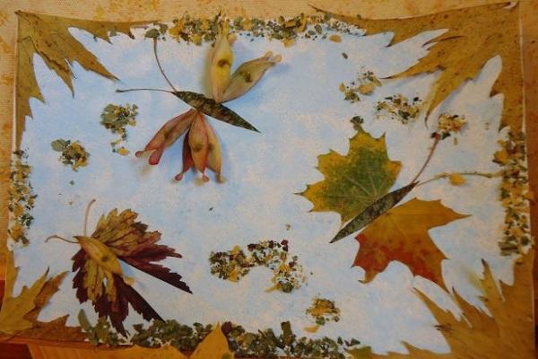 Картины сделанные своими руками из осенних листьев