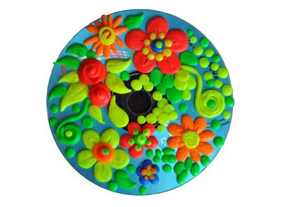 Детская поделка из сд дисков солнышко