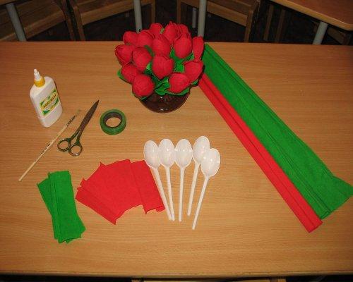 Как сделать тюльпан из бумаги своими руками инструкция с фото