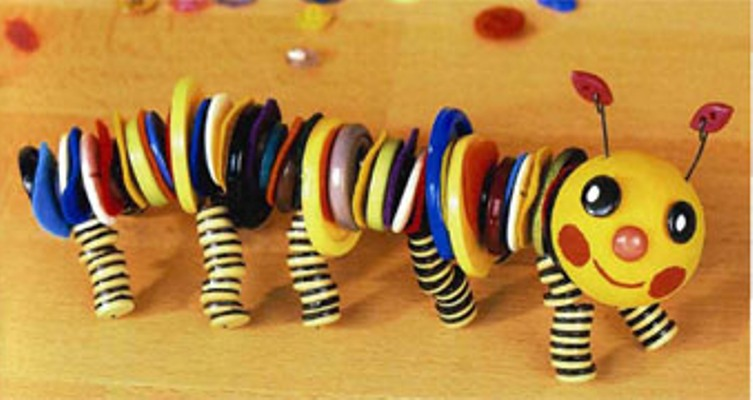 Игрушки своими руками из пуговиц