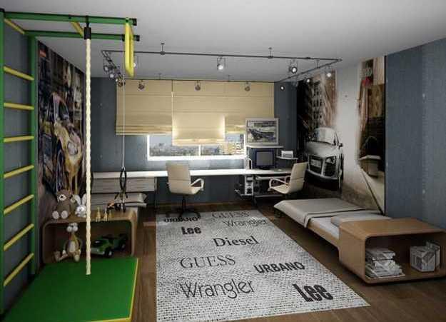 подростковая комната фото для мальчика