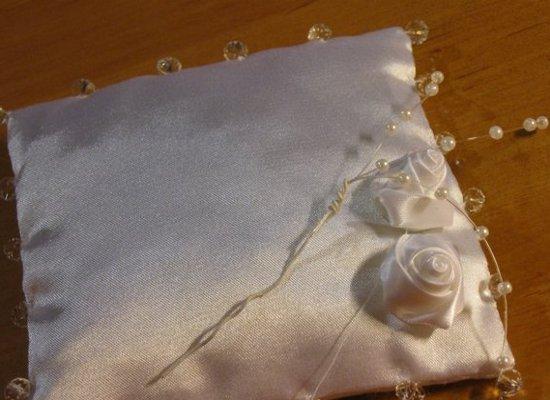 Подушка для колец своими руками для свадьбы