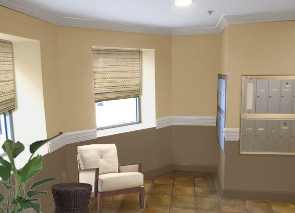Покраска стен на кухне в два цвета фото