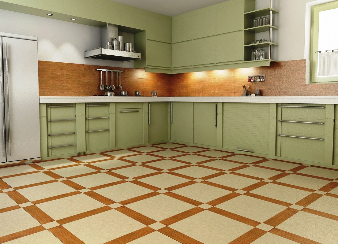 Кафель пола на кухню дизайн