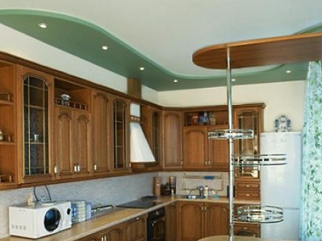 Двухуровневые потолки для кухни своими руками