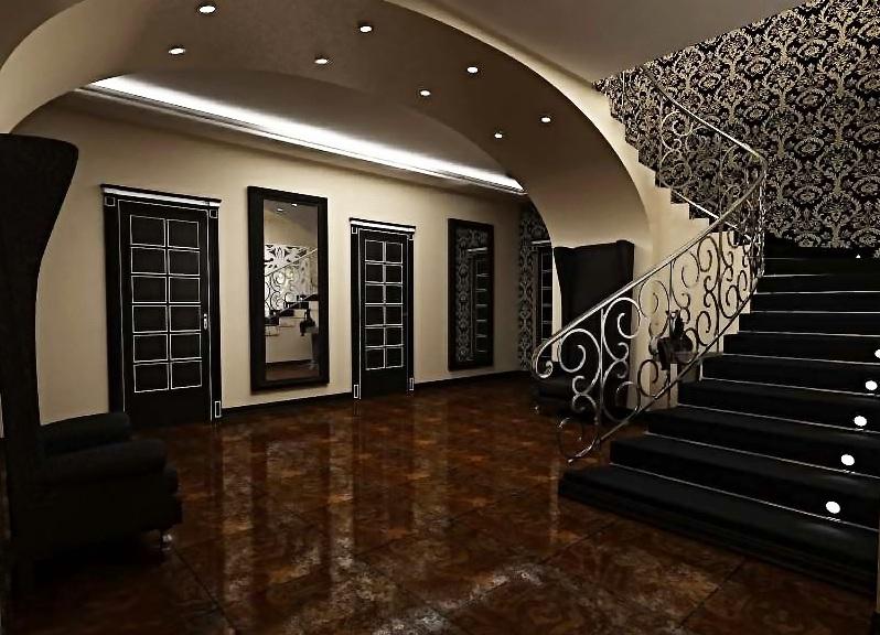 Потолки в коридоре дизайн фото