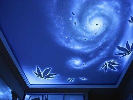 натяжной потолок с 3d эффектом фото