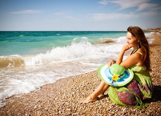 Фото позы на море женские в платье