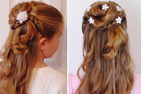 Прически на выпускной на средние волосы для девочек
