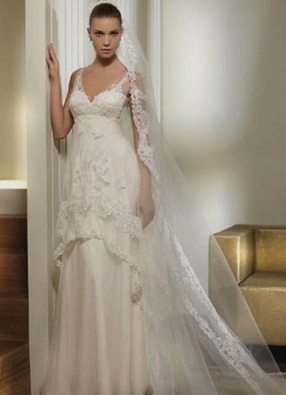 Прямое кружевное свадебное платье 3