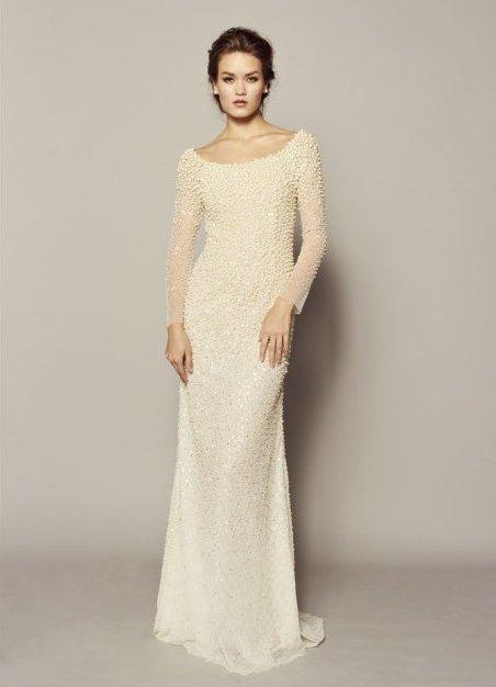 Прямые свадебные платья с рукавами 3