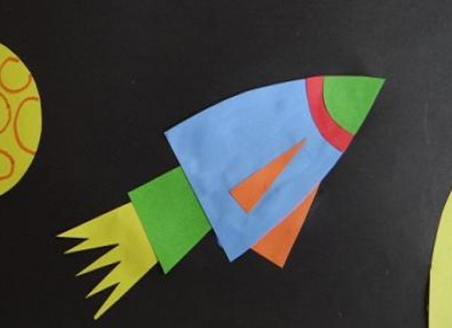 Шаблон ракета из бумаги