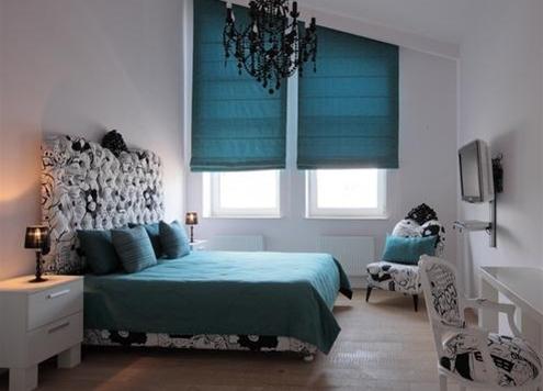 фото римские шторы для спальни