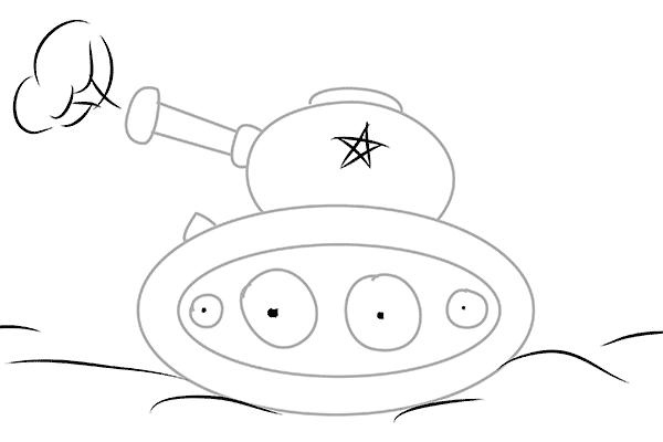 Рисунки танков для детей поэтапно
