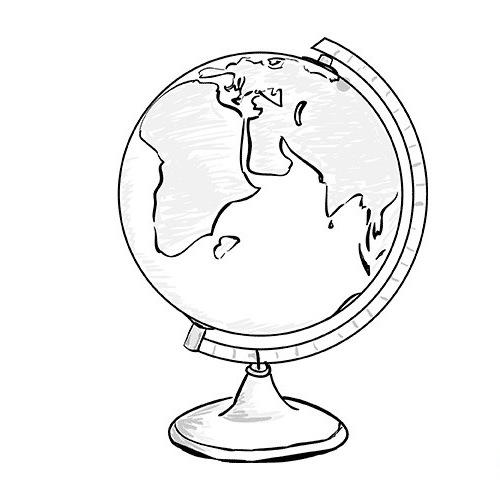 рисунок глобуса: