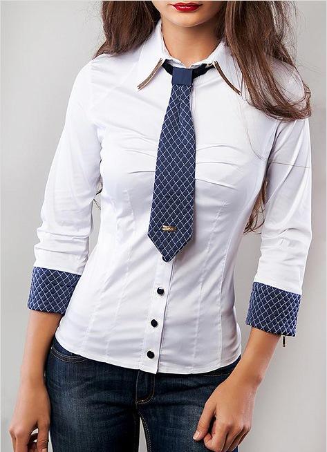 короткий галстук с рубашкой