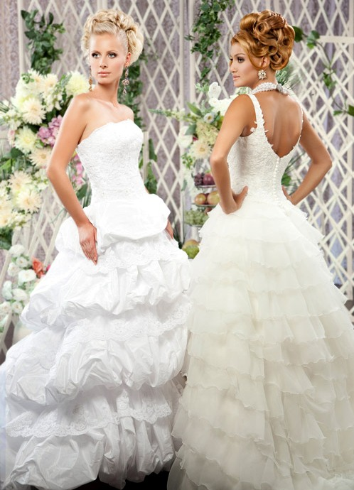 свадебныепрически 2011 пышные