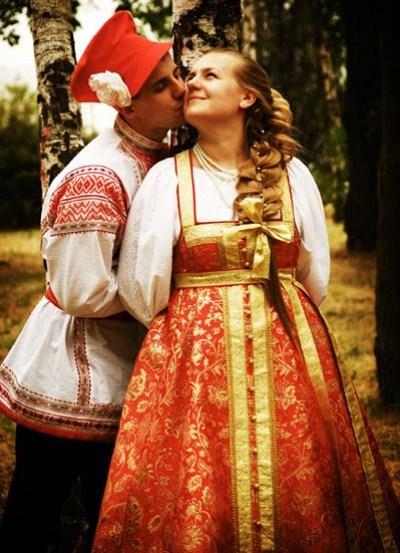 Русское народное платье свадебное